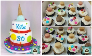 collage gateau cupcakes bonbons