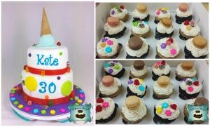 collage gateau cupcakes bonbons